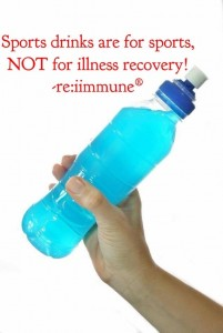 Sports drinks, re:iimmune for illness recovery