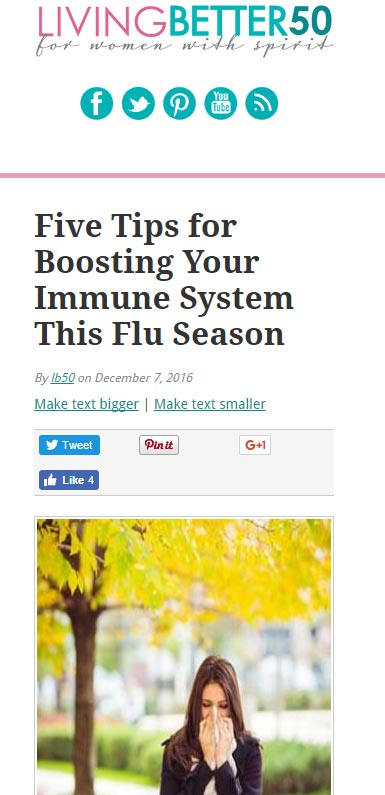 Five Tips for Boosting Your Immune System This Flu Season